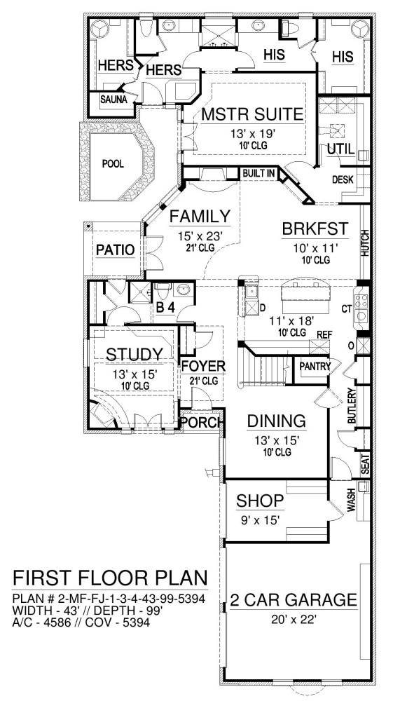 First Floor image of Liverpool House Plan