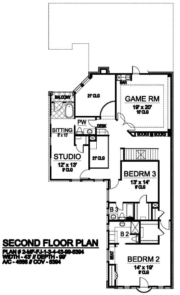 Second Floor image of Liverpool House Plan