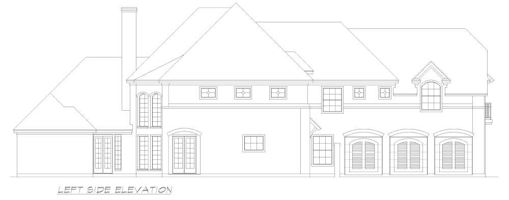 Left Elevation image of Liverpool House Plan