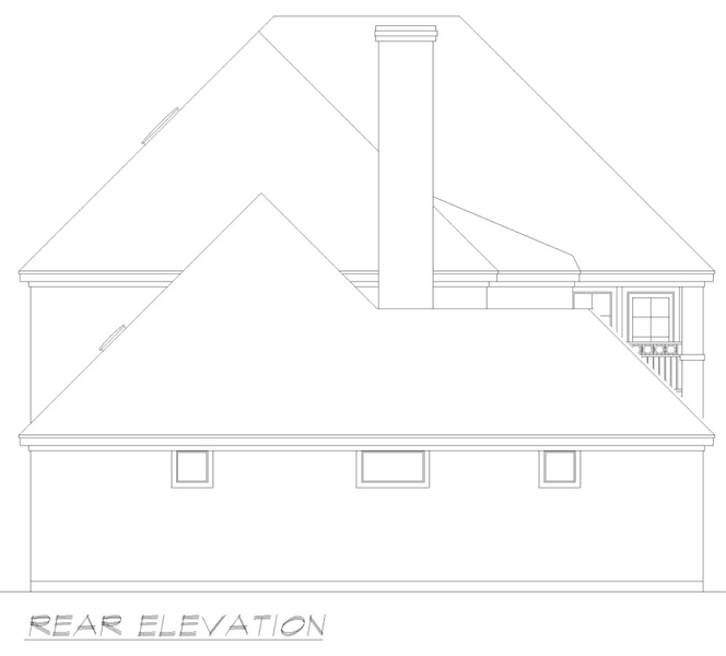 Rear Elevation image of Liverpool House Plan
