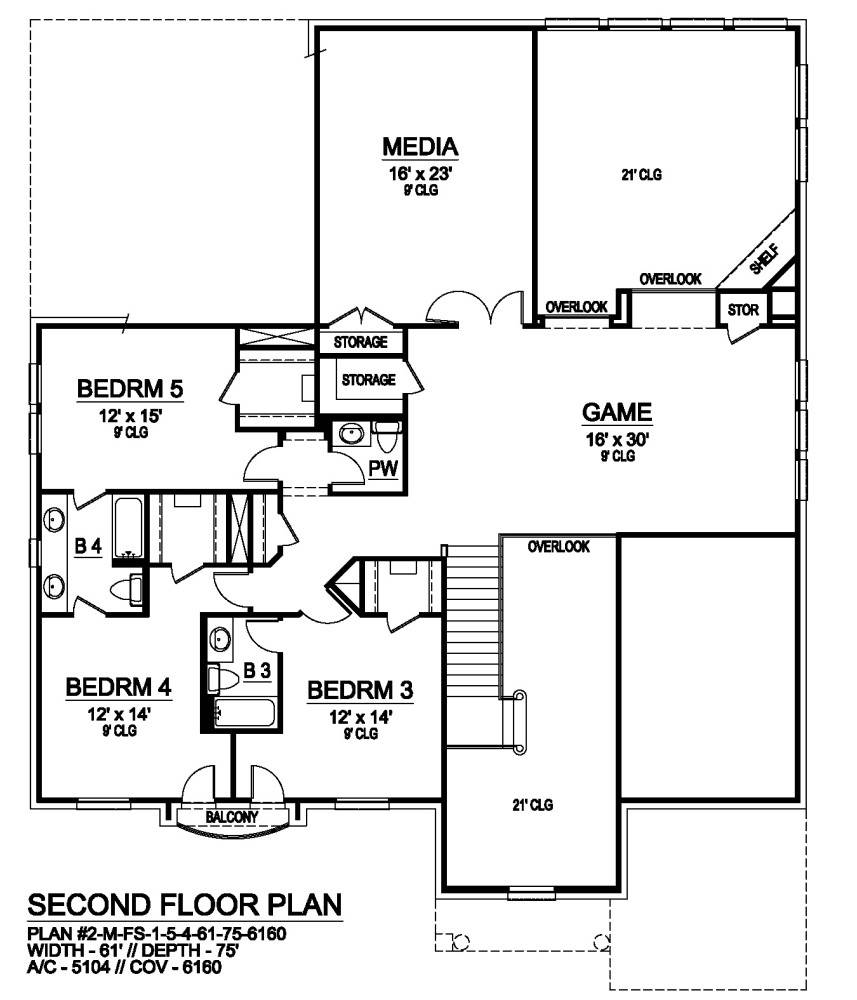 Second Floor image of Savannah Valley House Plan
