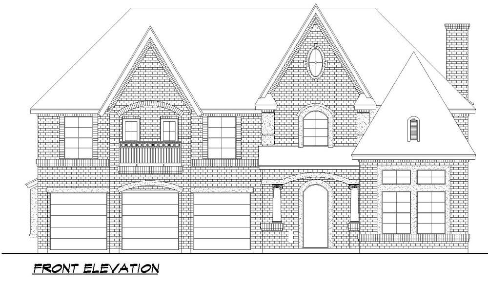 Front Elevation image of Savannah Valley House Plan