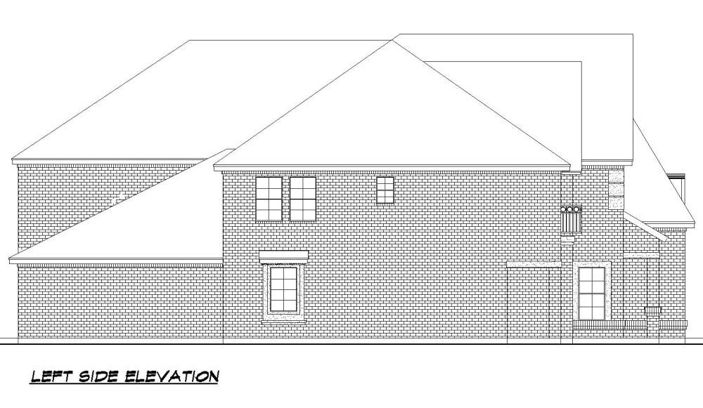 Left Elevation image of Savannah Valley House Plan