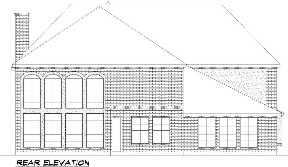 Rear Elevation image of Savannah Valley House Plan