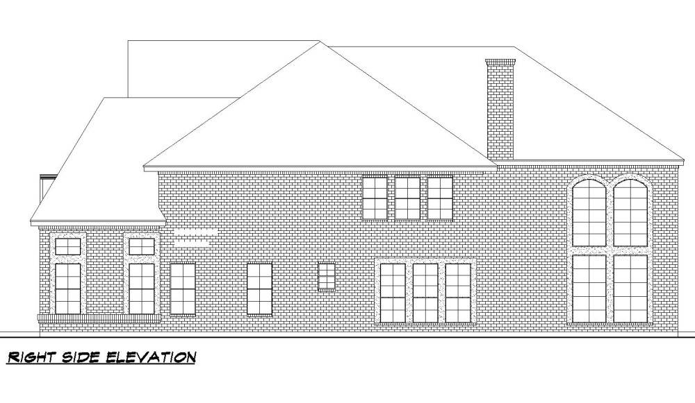 Right Elevation image of Savannah Valley House Plan