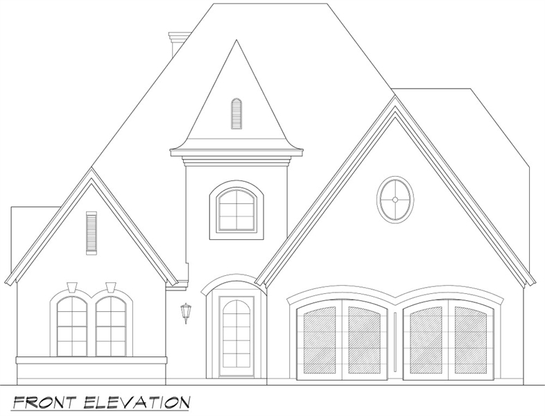 Front Elevation image of Norwich House Plan