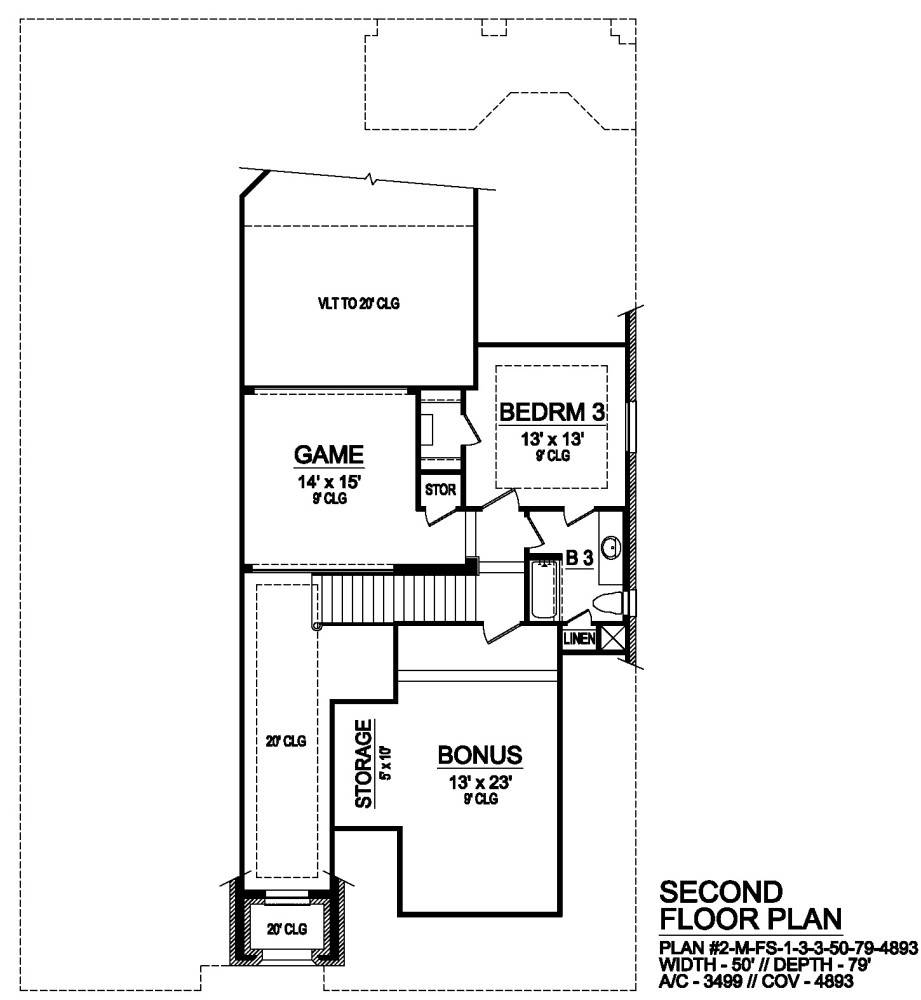 Second Floor image of Norwich House Plan