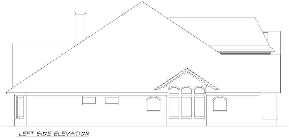Left Elevation image of Norwich House Plan