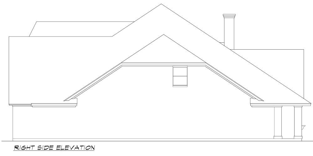 Right Elevation image of Norwich House Plan