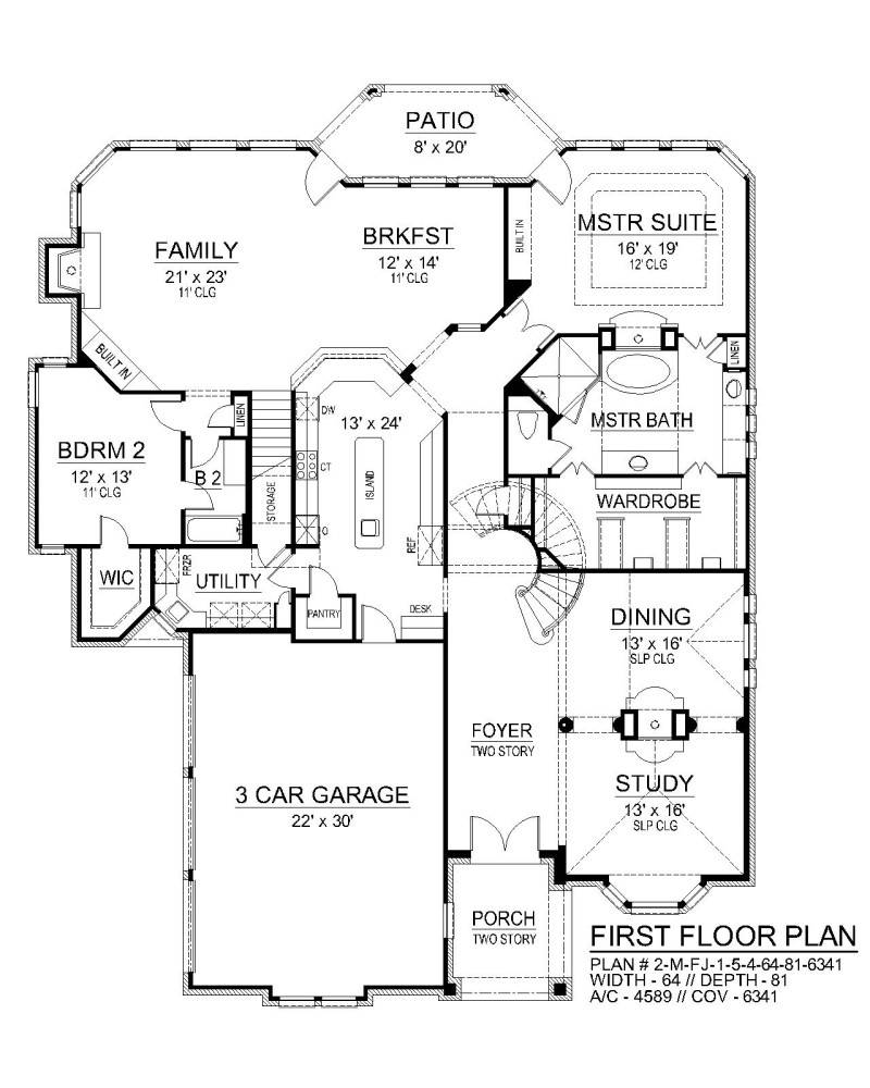 First Floor image of Seton Hall House Plan