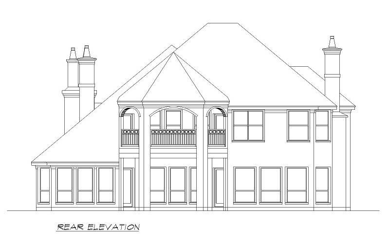 Rear  image of Seton Hall House Plan