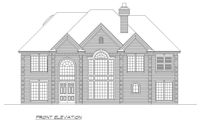 Front image of Shady Oaks House Plan