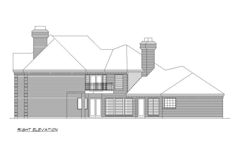 Right Elevation image of Shady Oaks House Plan