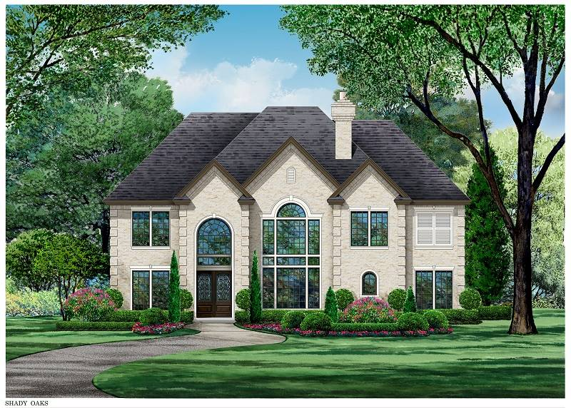 Color Rendering image of Shady Oaks House Plan