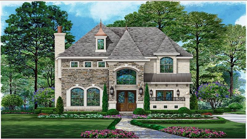 Color Rendering image of Aberdeen House Plan