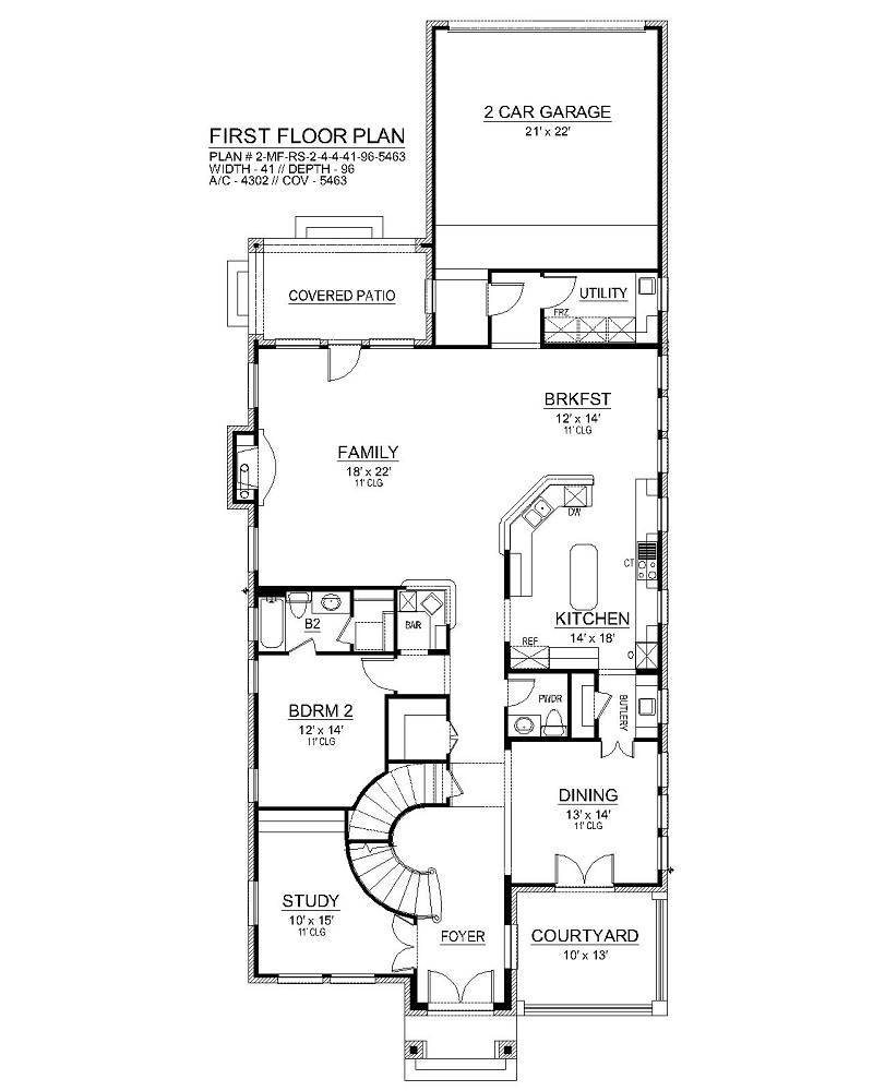 First Floor image of Aberdeen House Plan