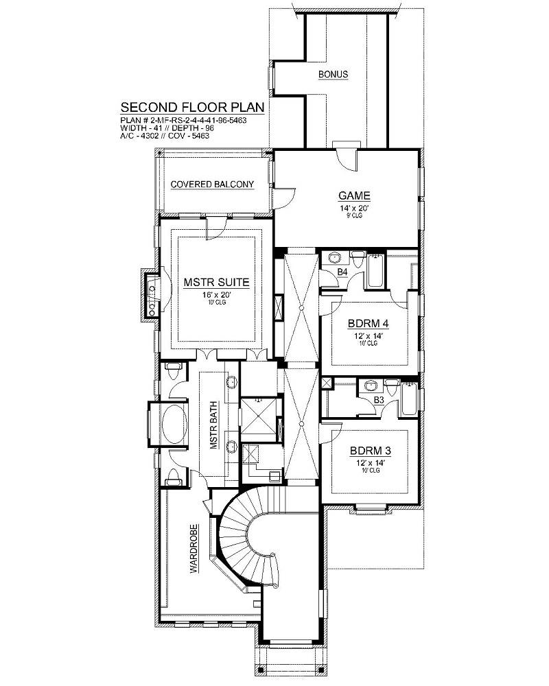 Second Floor image of Aberdeen House Plan