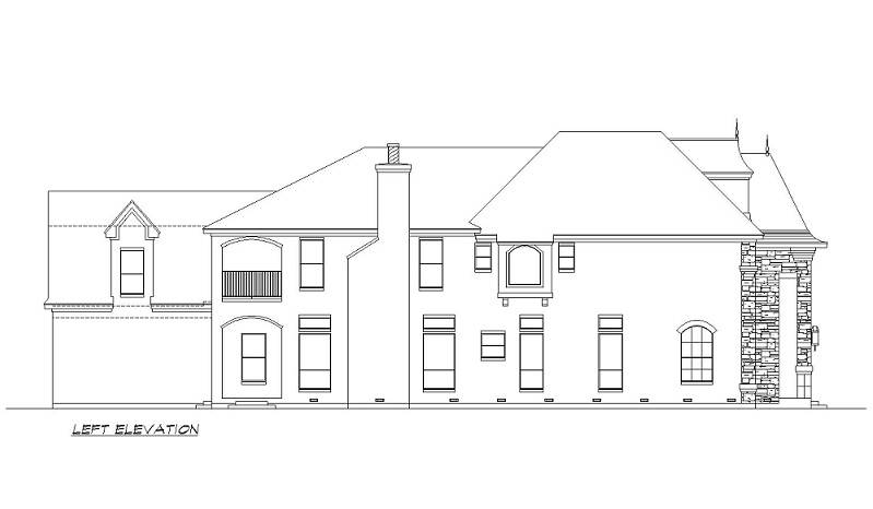 Left Elevation image of Aberdeen House Plan