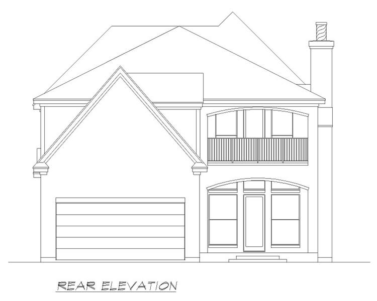 Rear  image of Aberdeen House Plan