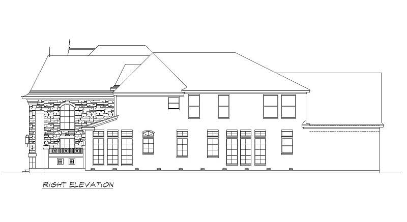 Right Elevation image of Aberdeen House Plan