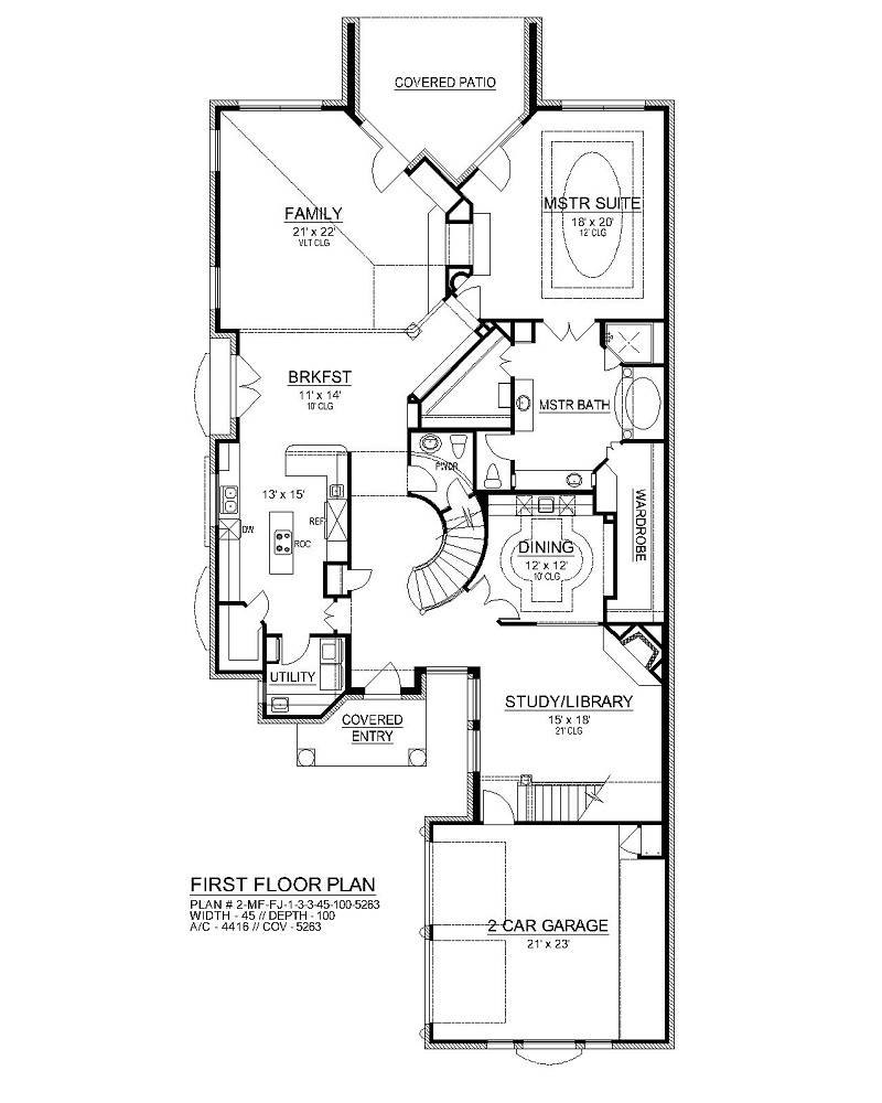 First Floor image of Sherry Lane House Plan