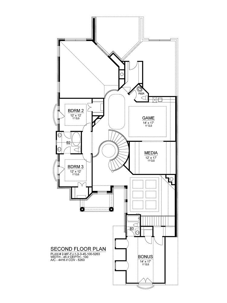 Second Floor image of Sherry Lane House Plan