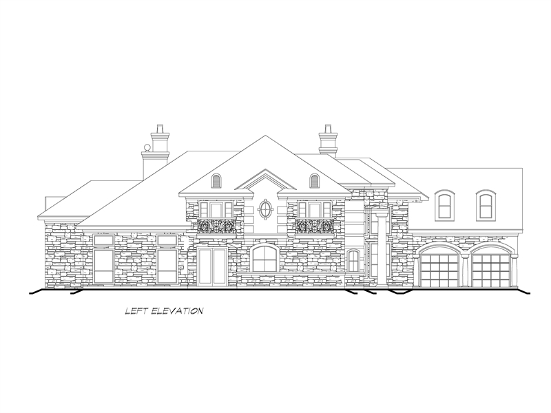 Left Elevation image of Sherry Lane House Plan