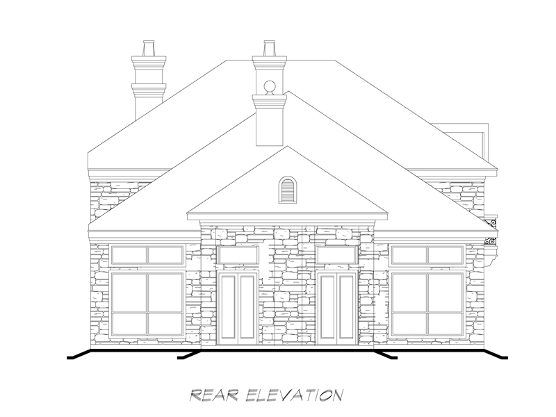 Rear  image of Sherry Lane House Plan