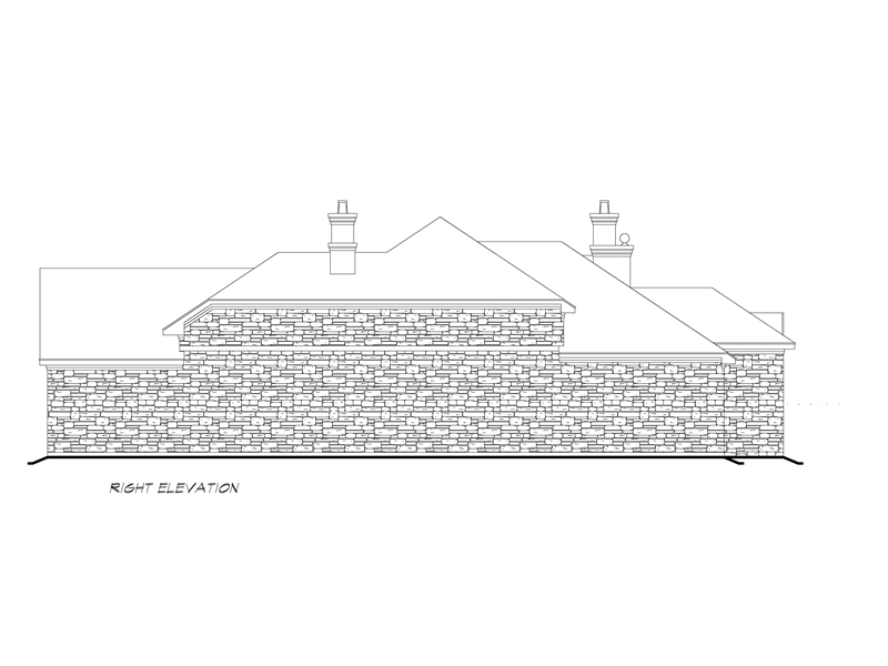 Right Elevation image of Sherry Lane House Plan