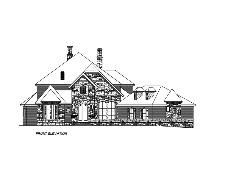 Front Elevation image of Shadow Creek House Plan