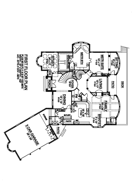 First Floor image of Shadow Creek House Plan