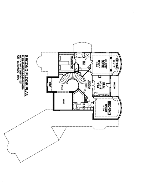 Second Floor image of Shadow Creek House Plan