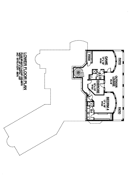 Basement image of Shadow Creek House Plan