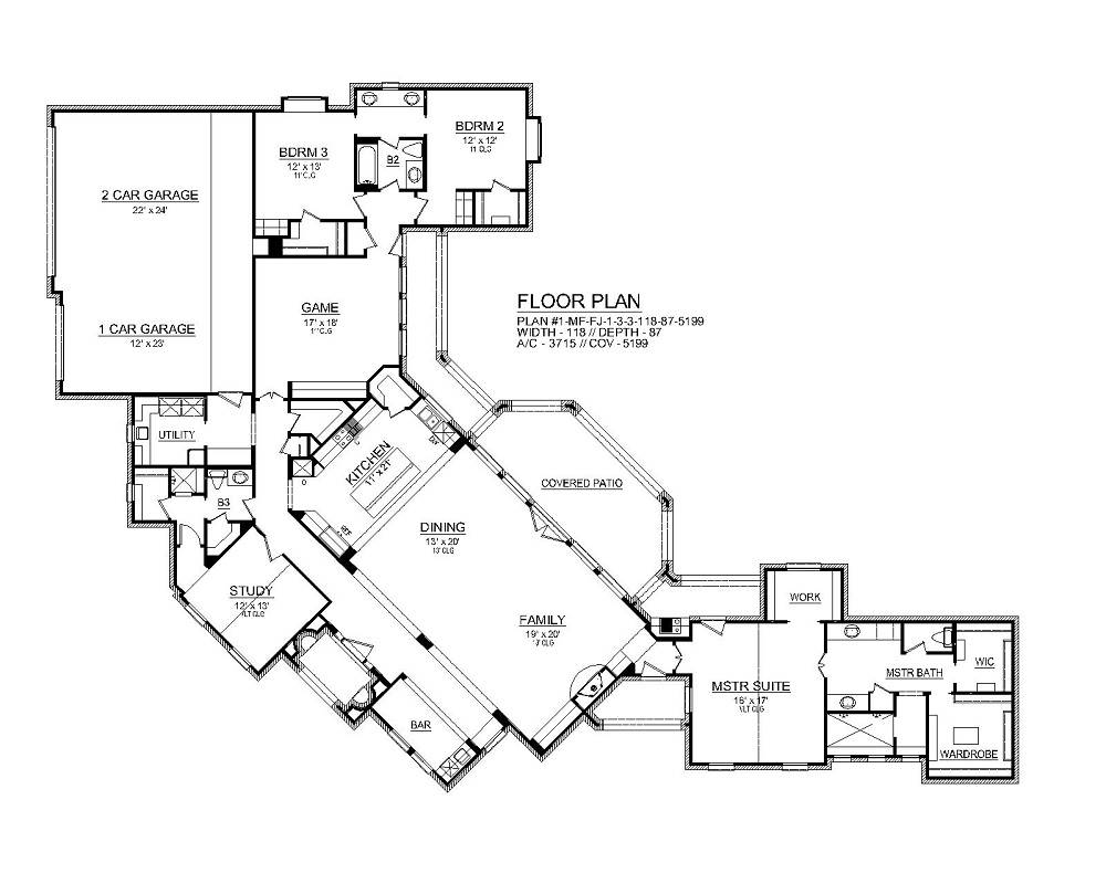 First Floor image of Park City House Plan