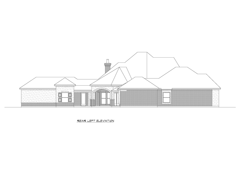 Left Elevation image of Park City House Plan