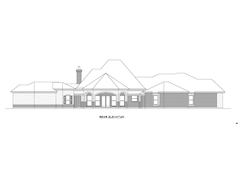 Rear Elevation image of Park City House Plan