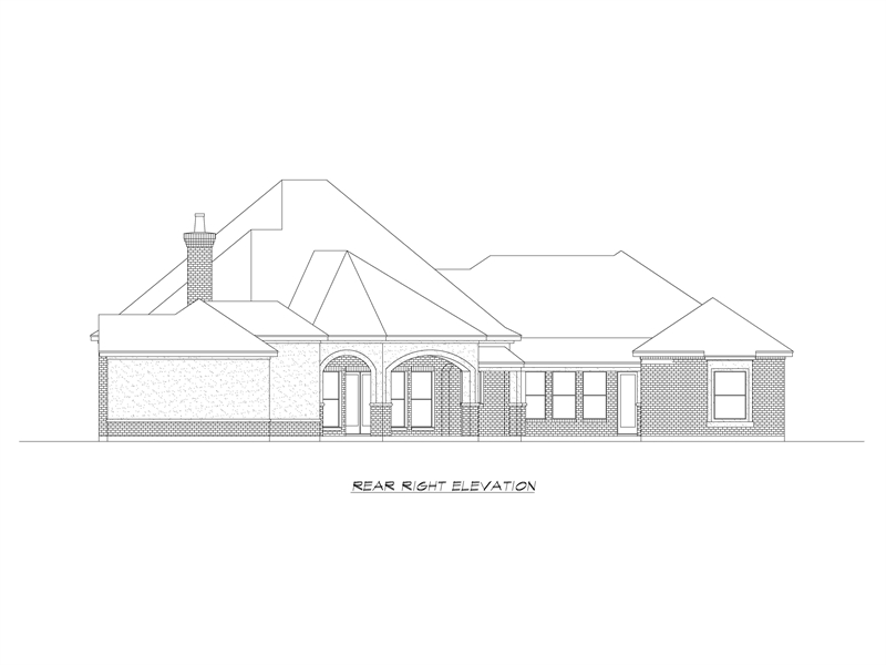 Right Elevation image of Park City House Plan