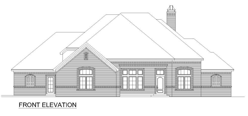 Front Elevation image of Pine Bluff House Plan