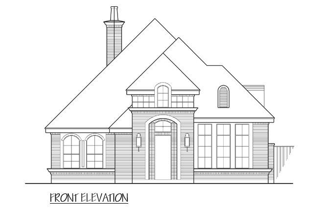 Front View image of Royal Troon House Plan