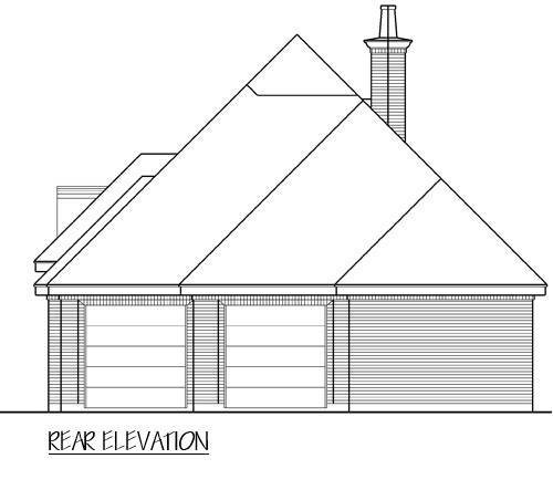 Rear View image of Royal Troon House Plan