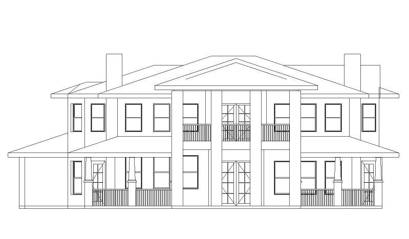 Front Elevation image of Campbella House Plan