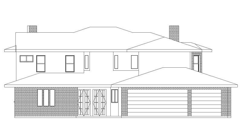 Rear Elevation image of Campbella House Plan