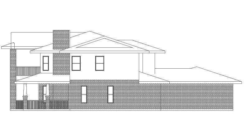 Right Elevation image of Campbella House Plan