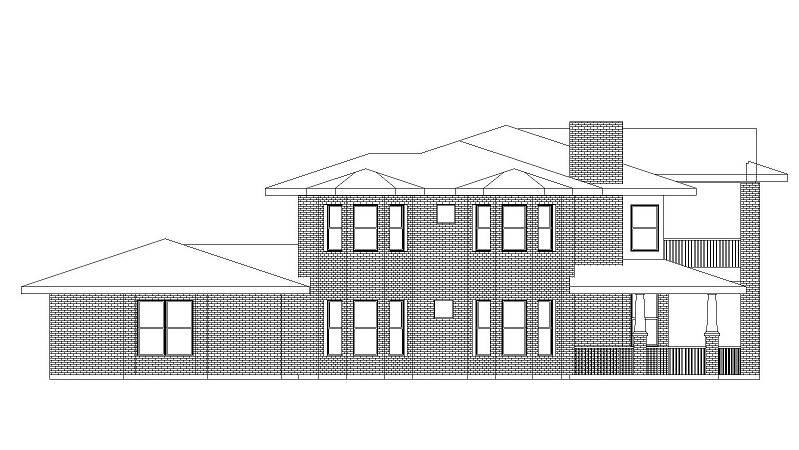 Left Elevation image of Campbella House Plan