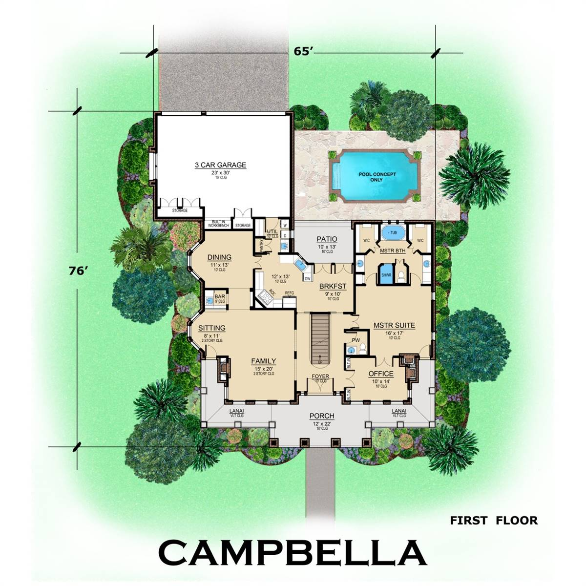1st Floor image of Campbella House Plan