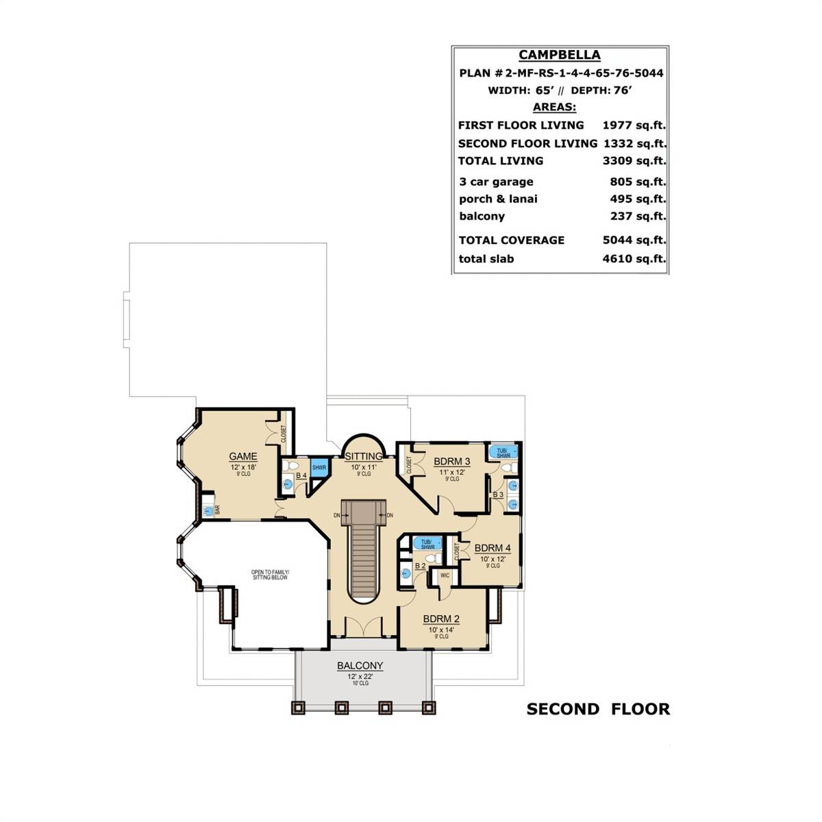 2nd Floor image of Campbella House Plan