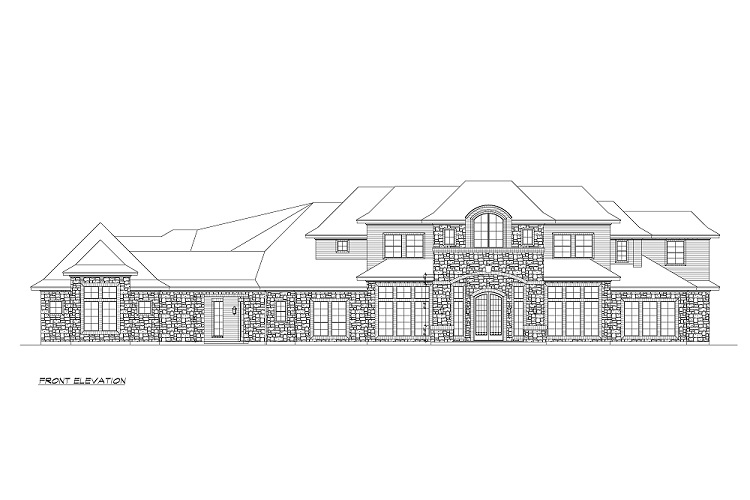 Front Elevation image of Torrey Pines House Plan