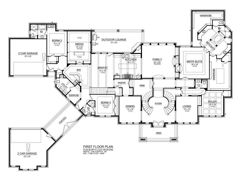 First Floor image of Torrey Pines House Plan