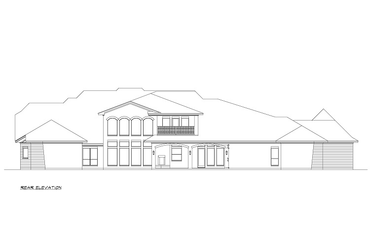 Rear Elevation image of Torrey Pines House Plan