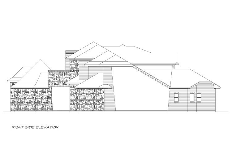 Right Elevation image of Torrey Pines House Plan